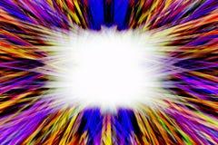 五颜六色的starburst背景 库存照片
