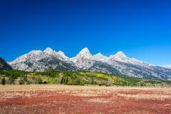 五颜六色的Teton范围风景 库存图片