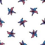 五颜六色的Zentangle无缝的样式传染媒介 库存图片