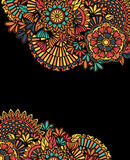 五颜六色的zentangle背景 图库摄影