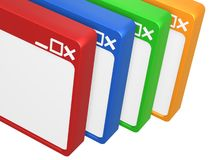 五颜六色空白的浏览器 免版税库存图片
