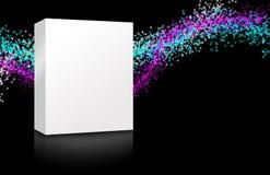五颜六色空白的配件箱 免版税库存照片