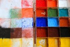 五颜六色粉末的油漆 免版税库存照片