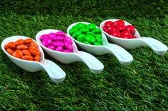 五颜六色糖果的巧克力 库存照片
