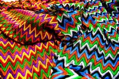 五颜六色纹理纺织品帆布 免版税库存照片