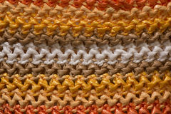 五颜六色编织由塑料材料制成 免版税图库摄影