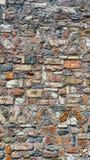 五颜六色老砖墙 库存图片