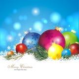 五颜六色背景的圣诞节 图库摄影