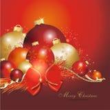 五颜六色背景的圣诞节 库存照片