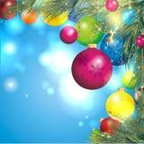 五颜六色背景的圣诞节 库存图片