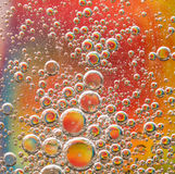 五颜六色背景的泡影 免版税库存图片