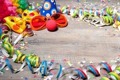 五颜六色背景的狂欢节 库存照片