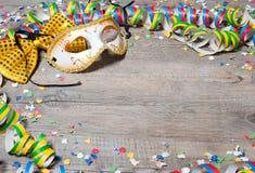 五颜六色背景的狂欢节 库存图片
