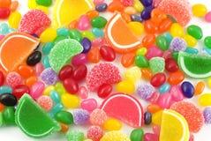 五颜六色背景的糖果 库存图片