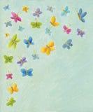 五颜六色背景的蝴蝶 库存图片