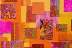 五颜六色艺术的拼贴画 向量例证
