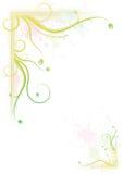 五颜六色花卉框架飞溅 免版税库存图片