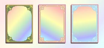 五颜六色葡萄酒装饰品无缝的边界 皇族释放例证