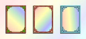 五颜六色葡萄酒装饰品无缝的边界 向量例证
