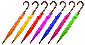 五颜六色被折叠的伞 库存图片