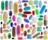 五颜六色许多药片 免版税图库摄影