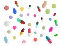 五颜六色许多药片 免版税库存照片