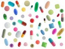 五颜六色许多药片 库存照片