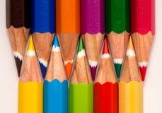 五颜六色许多铅笔 库存照片