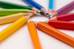 五颜六色许多铅笔 库存图片
