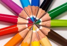 五颜六色许多铅笔 图库摄影