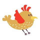 五颜六色逗人喜爱的鸟传染媒介例证的动画片 免版税库存照片