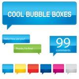 五颜六色配件箱的泡影 库存图片