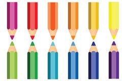 五颜六色铅笔象 免版税图库摄影