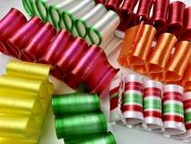 五颜六色,古板的丝带糖果 免版税库存照片