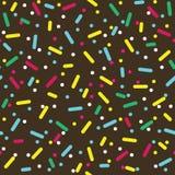 五颜六色洒多福饼釉无缝的样式 免版税库存照片