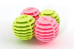五颜六色洗涤的球 库存图片