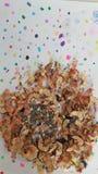 五颜六色绘画的磨削器 免版税库存照片