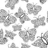 五颜六色蝴蝶的收藏 免版税库存图片