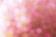 五颜六色bokeh光被弄脏的甜桃红色 库存照片