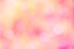 五颜六色bokeh光被弄脏的甜桃红色 免版税图库摄影