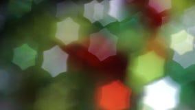 五颜六色Bokeh的星号 影视素材