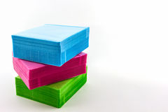 五颜六色CD的纸盒 免版税库存图片