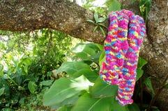 五颜六色wollen围巾,手工制造,礼物 免版税库存图片