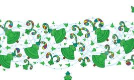 五颜六色Xmas树愉快的逗人喜爱的飞行 库存照片