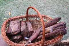 五香熏牛肉 库存照片
