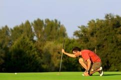 五高尔夫球运动员 免版税库存图片