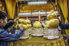 五buddhas寺庙 免版税库存照片