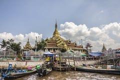 五buddhas寺庙 免版税图库摄影
