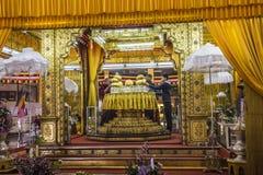 五buddhas寺庙 库存照片