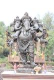 五Ganesha顶头雕塑  免版税库存照片